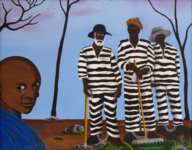 artwork by death row inmate, Kevin Cooper. On Facebook: @FreeKevinCooper.